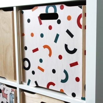 Ящик для игрушек Simple Box big (конфетти)