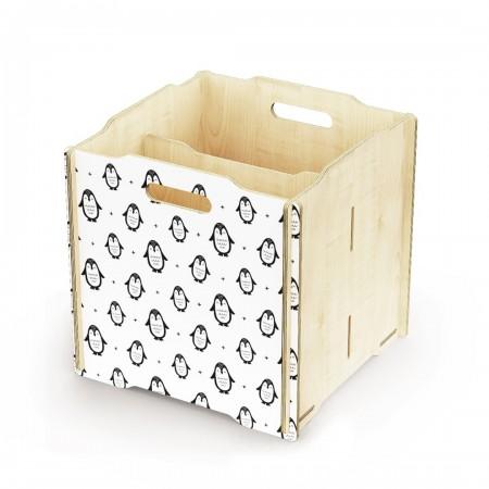 Ящик для игрушек Simple Box big (пингвины)