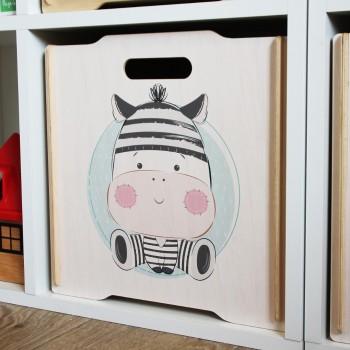 Ящик для игрушек Simple Box big (зебра)