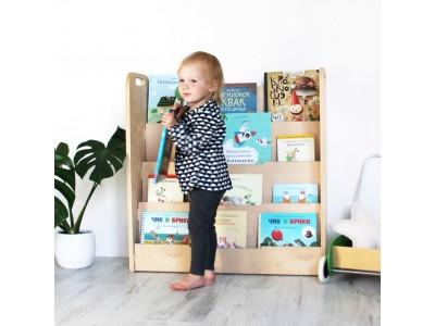 Детская книжная полка Vileco Home. Как привить любовь к книге у малышей.